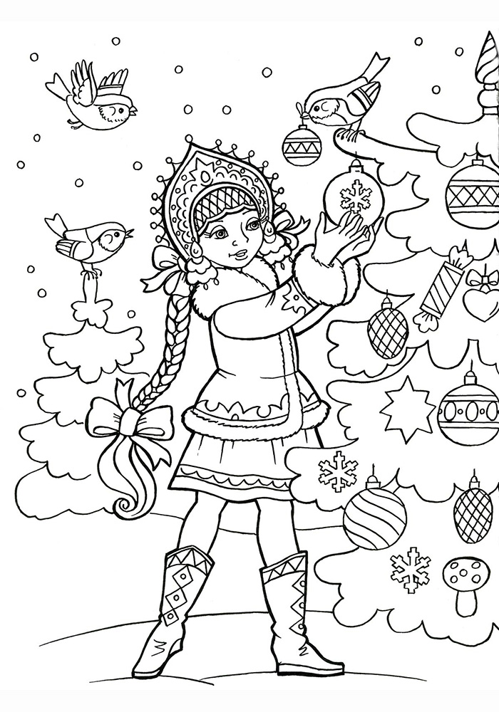 Снегурочка наряжает ёлочку