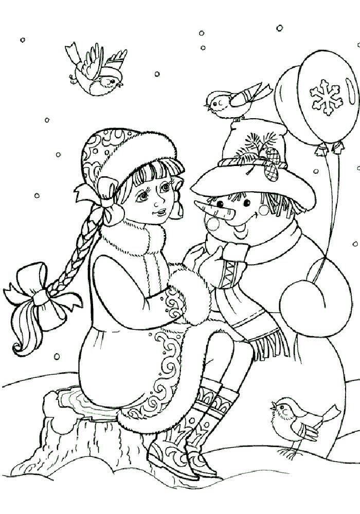Снегурочка со снеговиком