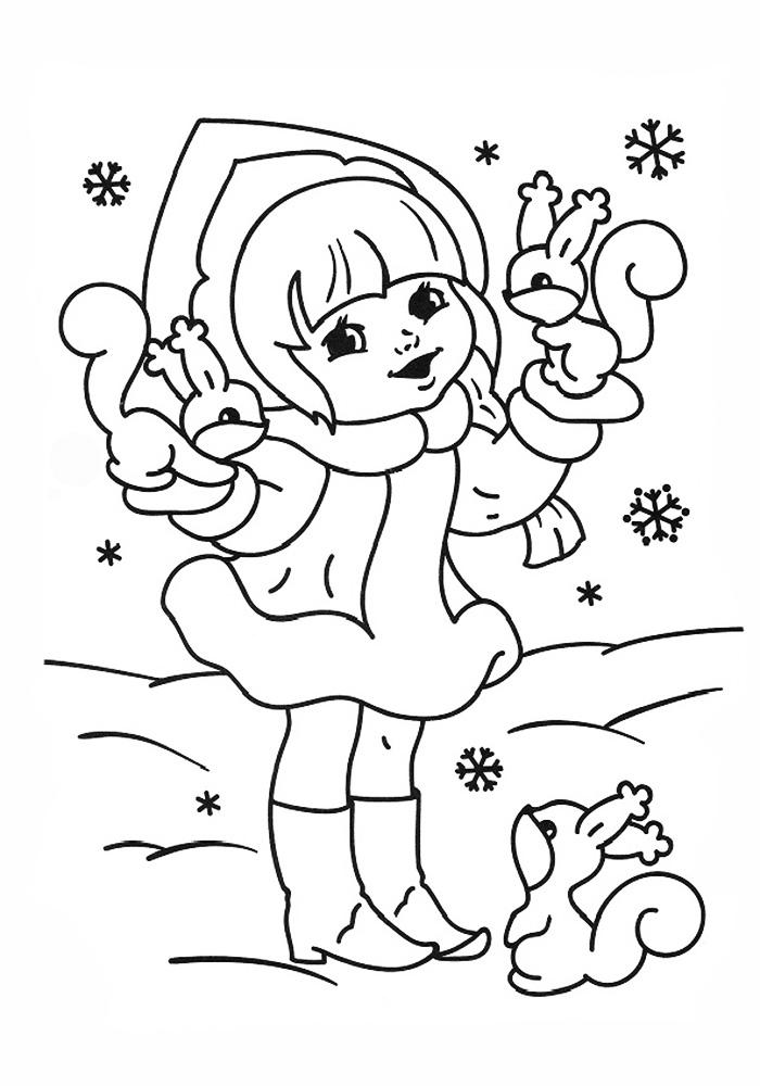 Снегурочка с белочками